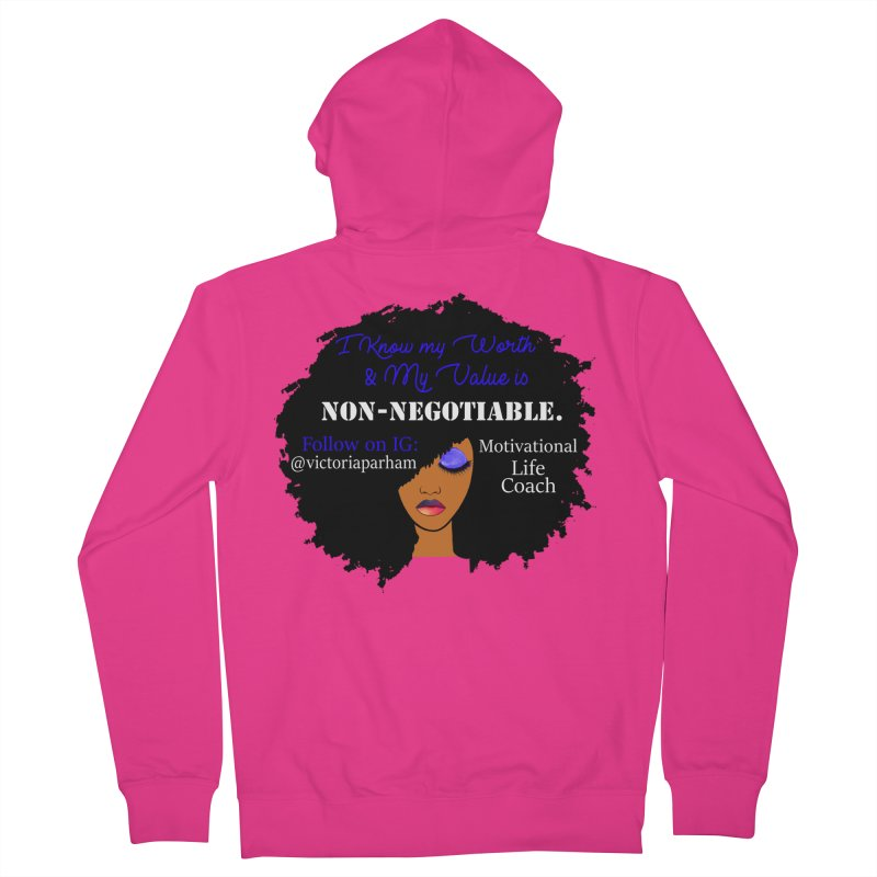 I Know My Value - Branded Life Coaching Item Men's Zip-Up Hoody by Victoria Parham's Sassy Quotes Shop