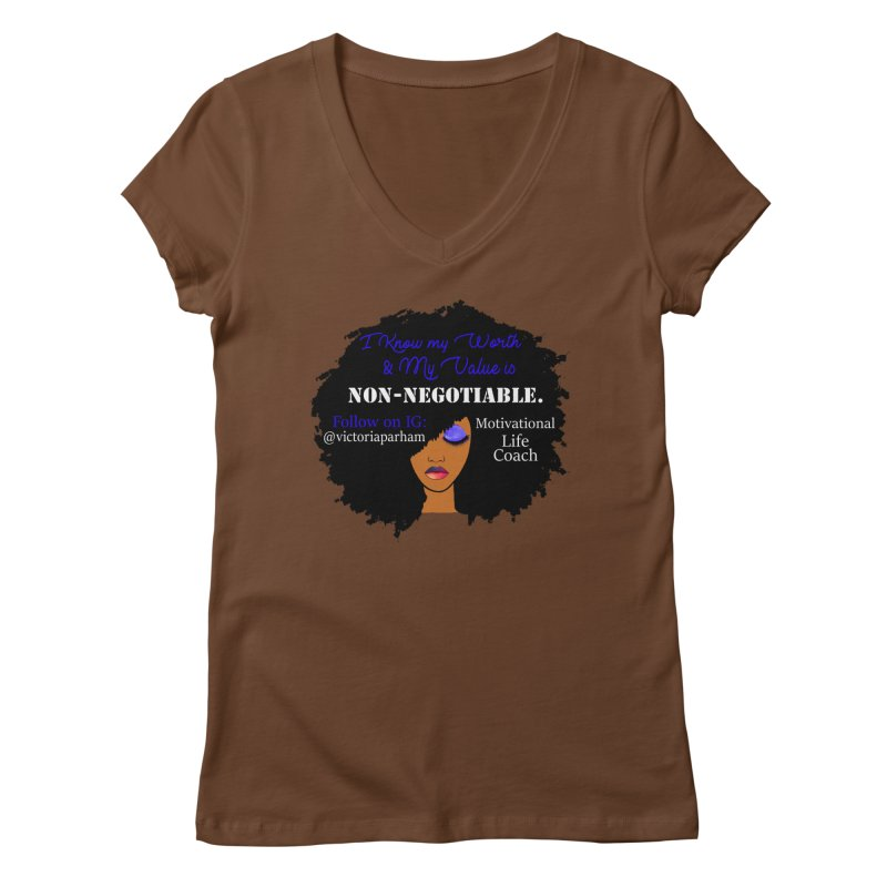 I Know My Value - Branded Life Coaching Item Women's Regular V-Neck by Victoria Parham's Sassy Quotes Shop