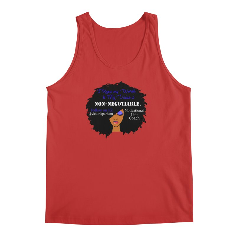 I Know My Value - Branded Life Coaching Item Men's Regular Tank by Victoria Parham's Sassy Quotes Shop