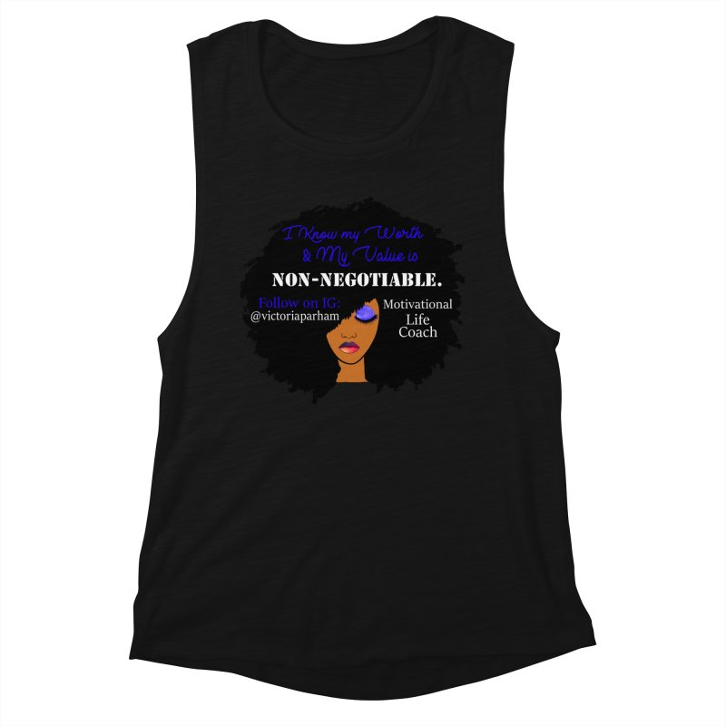 I Know My Value - Branded Life Coaching Item Women's Muscle Tank by Victoria Parham's Sassy Quotes Shop
