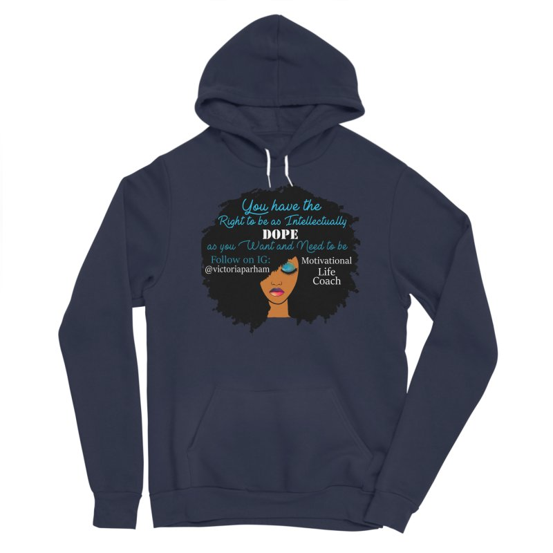 Intellectually DOPE - Branded Life Coaching Item Men's Sponge Fleece Pullover Hoody by Victoria Parham's Sassy Quotes Shop