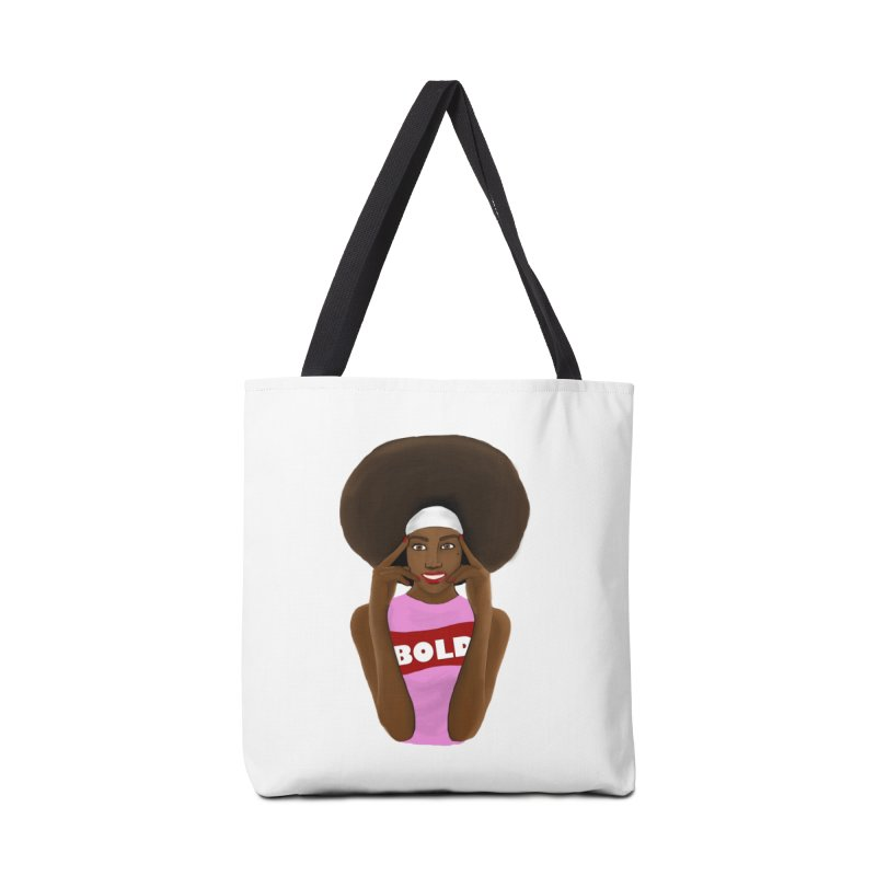 Be Bold Girl Accessories Tote Bag Bag by Victoria Parham's Sassy Quotes Shop