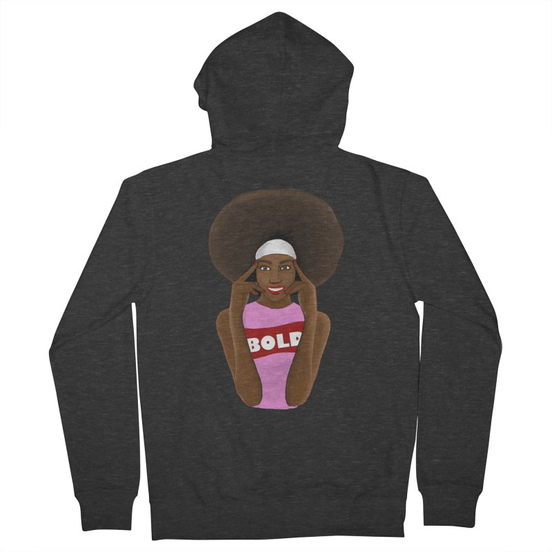 Be Bold Girl Men's Zip-Up Hoody by Victoria Parham's Sassy Quotes Shop