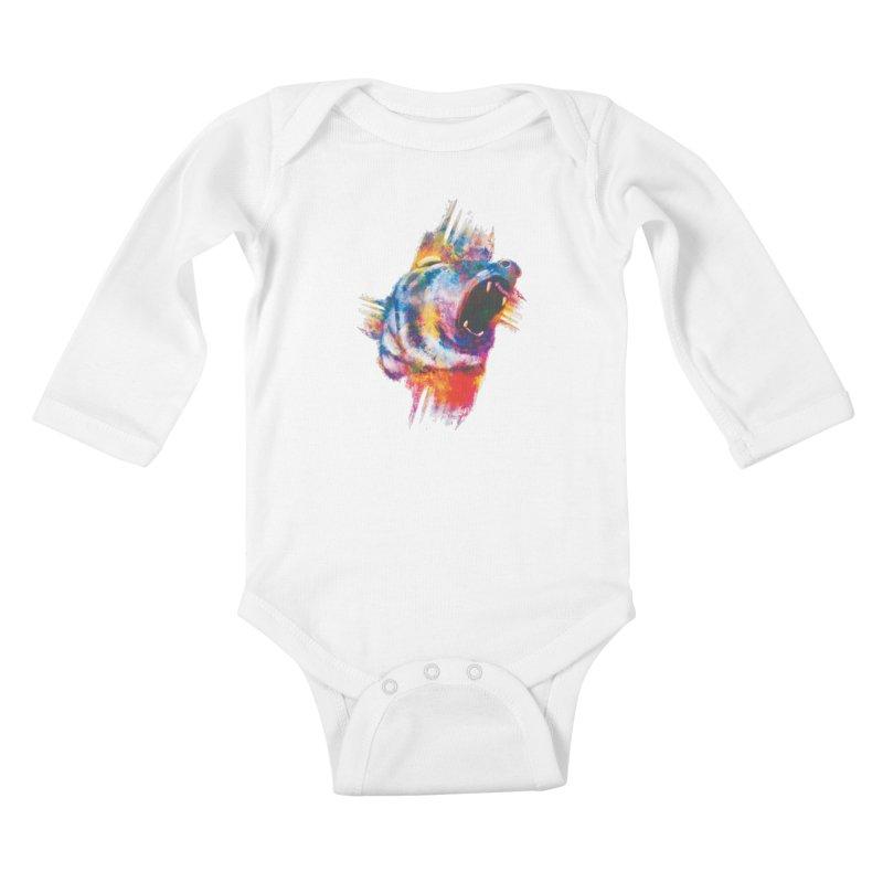 ROAR! Kids Baby Longsleeve Bodysuit by victoriuskendrick's Artist Shop