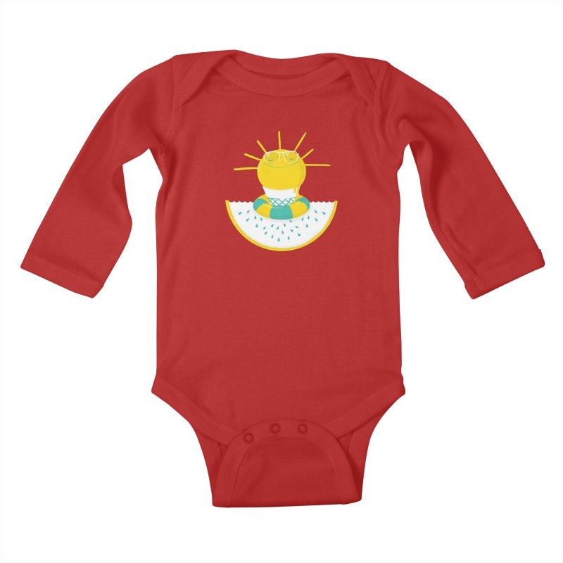 It's All About Summer Kids Baby Longsleeve Bodysuit by victoriuskendrick's Artist Shop