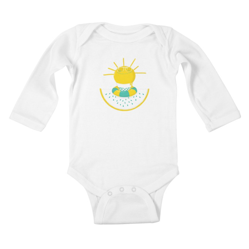 It's All About Summer Kids Baby Longsleeve Bodysuit by victoriuskendrick's Artist Shop