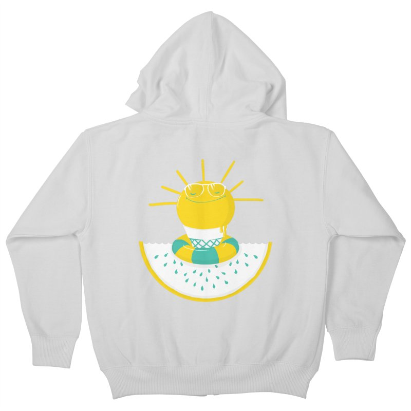 It's All About Summer Kids Zip-Up Hoody by victoriuskendrick's Artist Shop