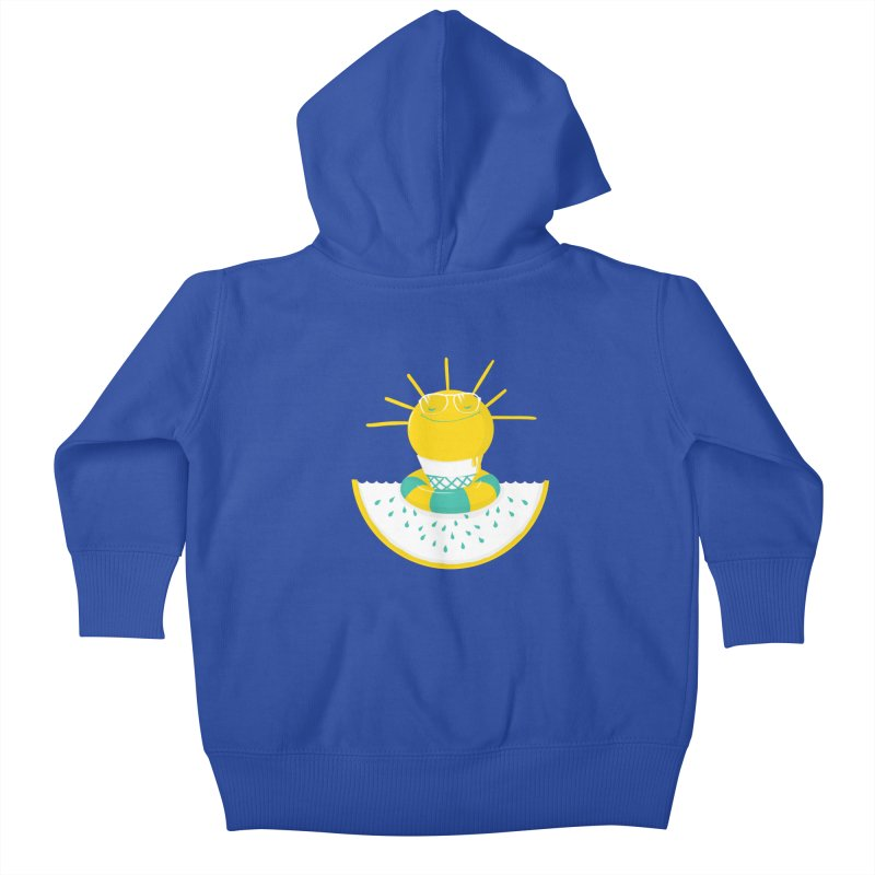 It's All About Summer Kids Baby Zip-Up Hoody by victoriuskendrick's Artist Shop