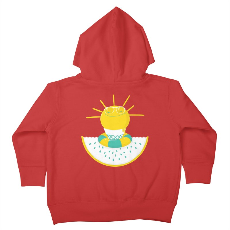 It's All About Summer Kids Toddler Zip-Up Hoody by victoriuskendrick's Artist Shop