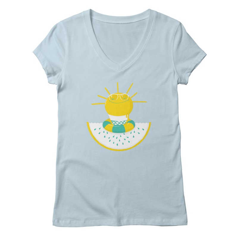 It's All About Summer Women's V-Neck by victoriuskendrick's Artist Shop