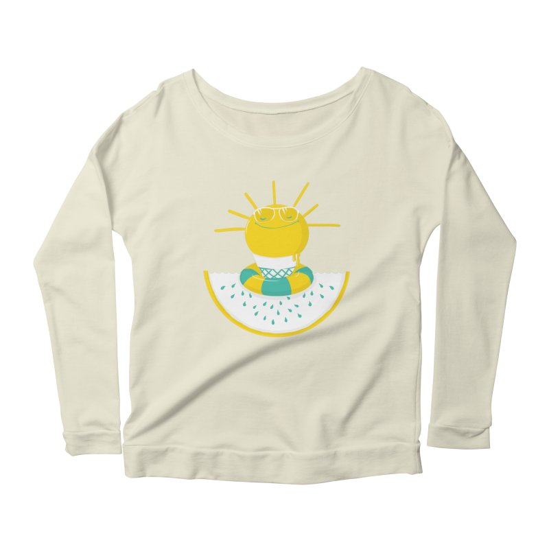 It's All About Summer Women's Longsleeve Scoopneck  by victoriuskendrick's Artist Shop