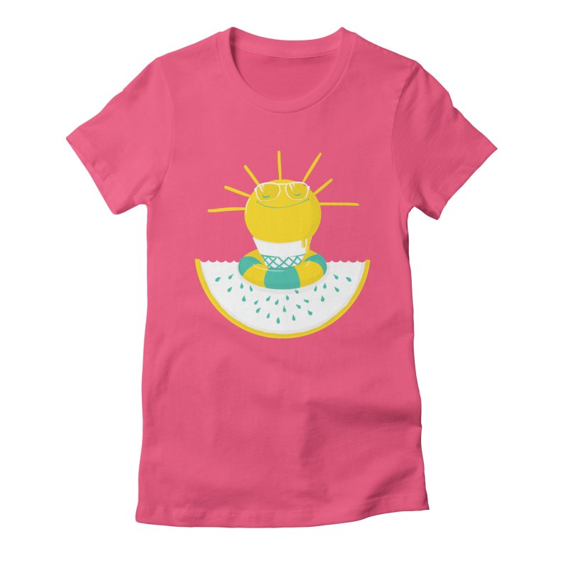 It's All About Summer Women's Fitted T-Shirt by victoriuskendrick's Artist Shop