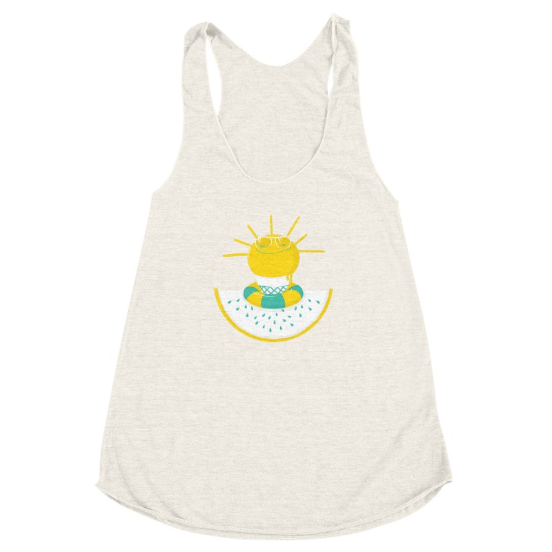 It's All About Summer Women's Racerback Triblend Tank by victoriuskendrick's Artist Shop