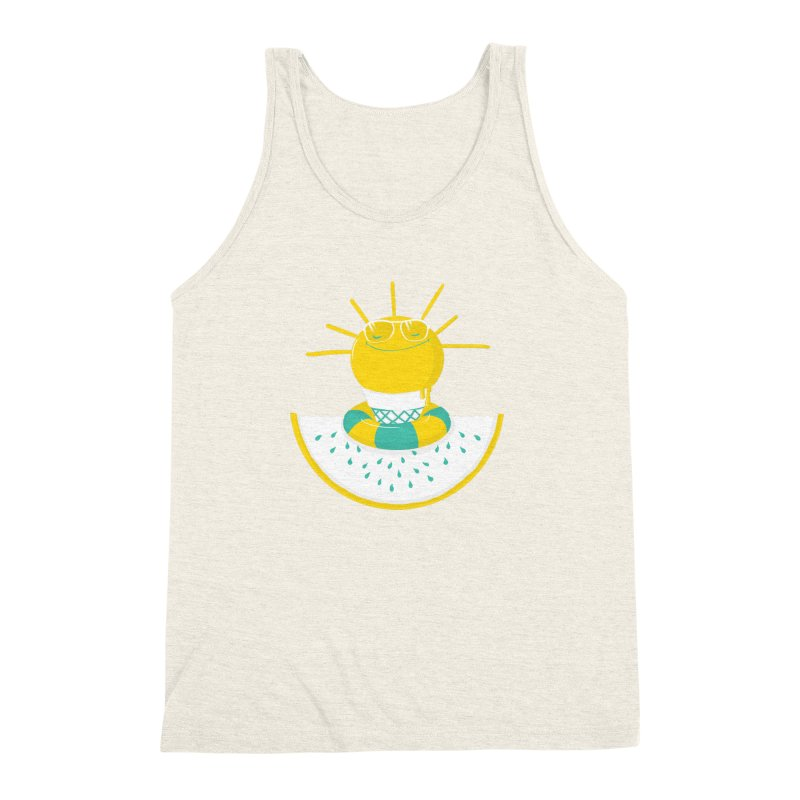 It's All About Summer Men's Triblend Tank by victoriuskendrick's Artist Shop