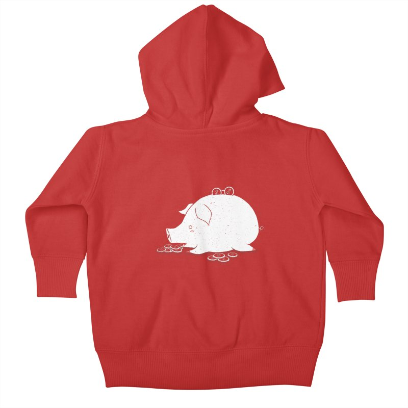 I'M SO FULL Kids Baby Zip-Up Hoody by victoriuskendrick's Artist Shop