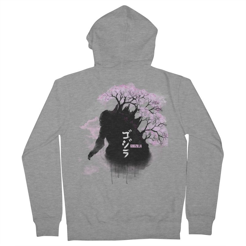 The Blossoming of Godzilla Women's French Terry Zip-Up Hoody by victorjimenezjr's Shop