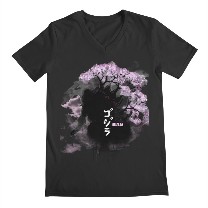 The Blossoming of Godzilla Men's V-Neck by victorjimenezjr's Shop