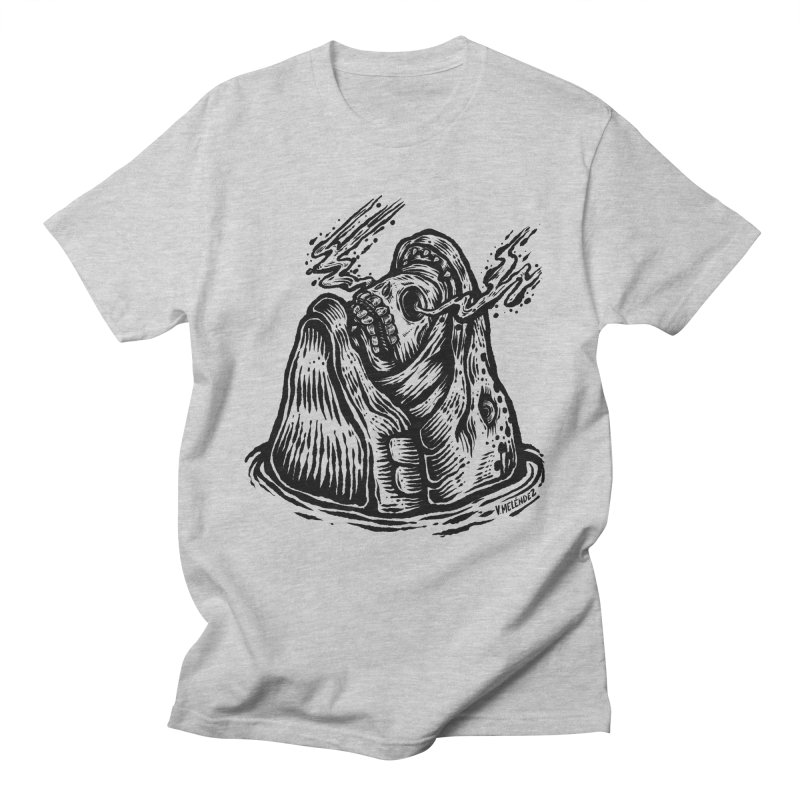 Fish Head Men's T-Shirt by Victor Melendez