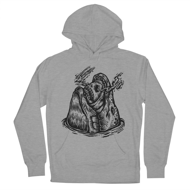 Fish Head Women's French Terry Pullover Hoody by Victor Melendez