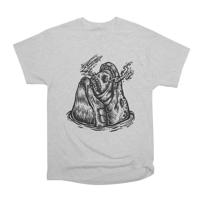 Fish Head Men's Heavyweight T-Shirt by Victor Melendez