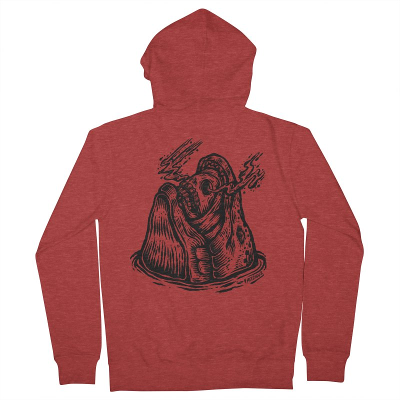 Fish Head Men's Zip-Up Hoody by Victor Melendez