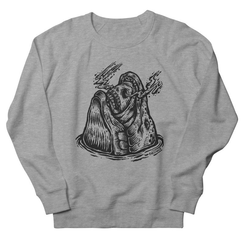 Fish Head Men's French Terry Sweatshirt by Victor Melendez