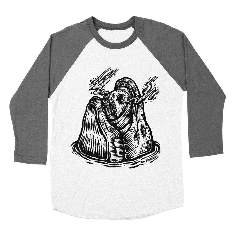 Fish Head Women's Baseball Triblend Longsleeve T-Shirt by Victor Melendez