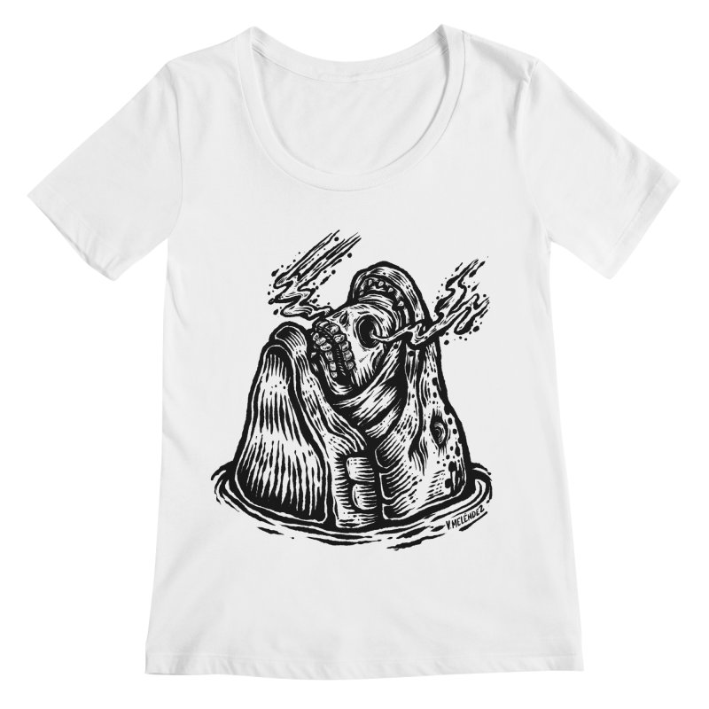 Fish Head Women's Scoopneck by Victor Melendez