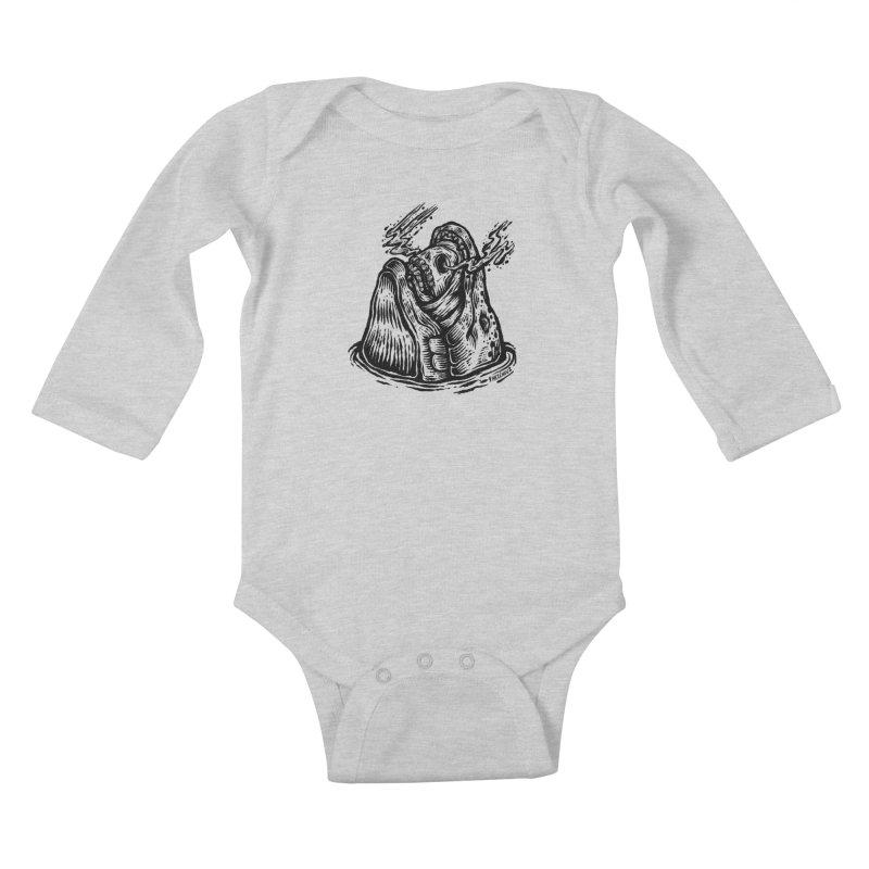 Fish Head Kids Baby Longsleeve Bodysuit by Victor Melendez
