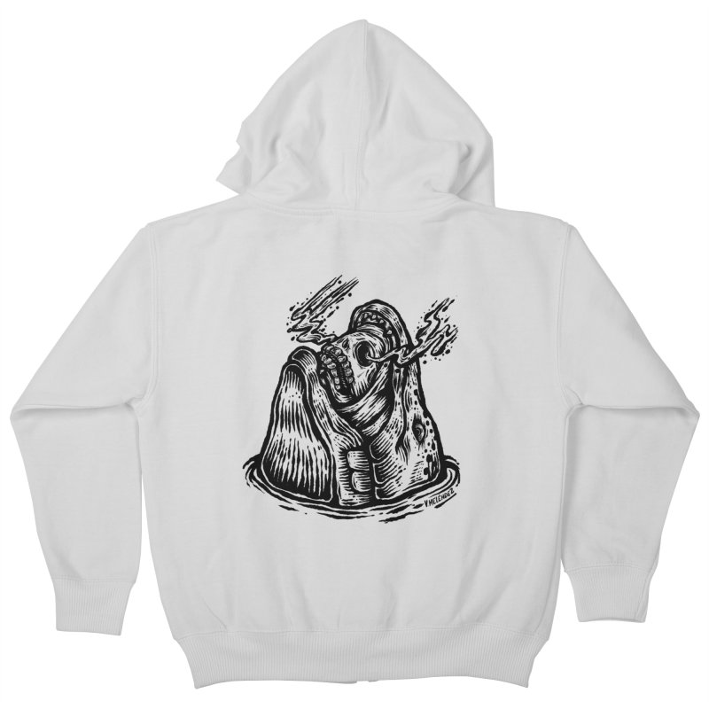 Fish Head Kids Zip-Up Hoody by Victor Melendez