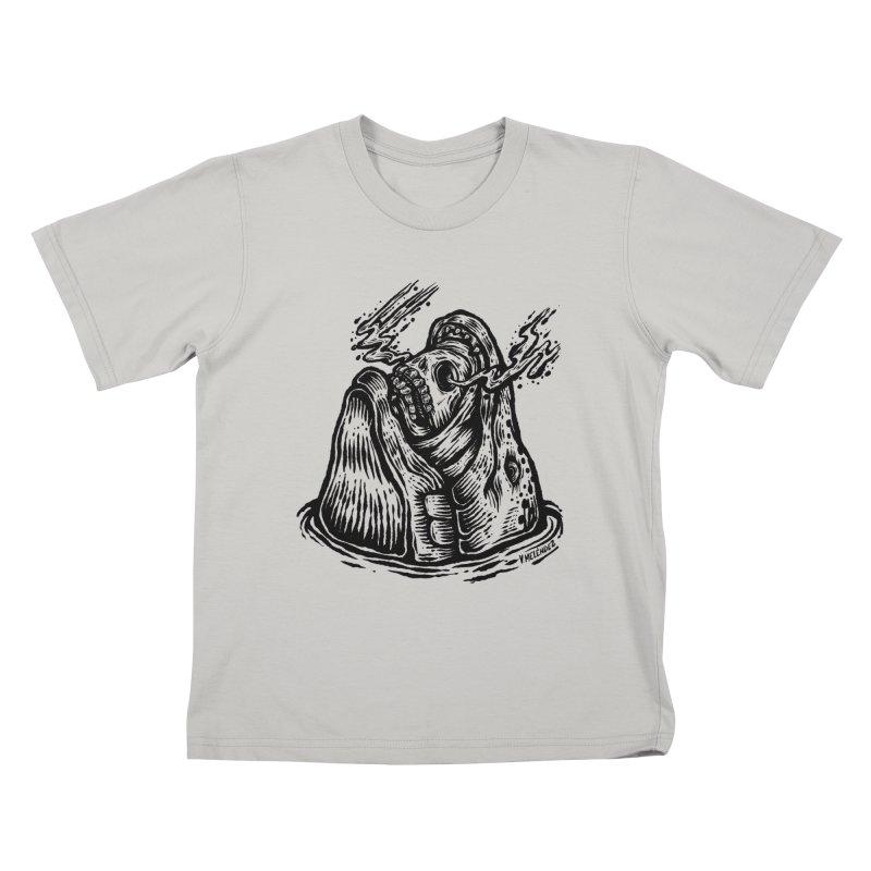 Fish Head Kids T-Shirt by Victor Melendez
