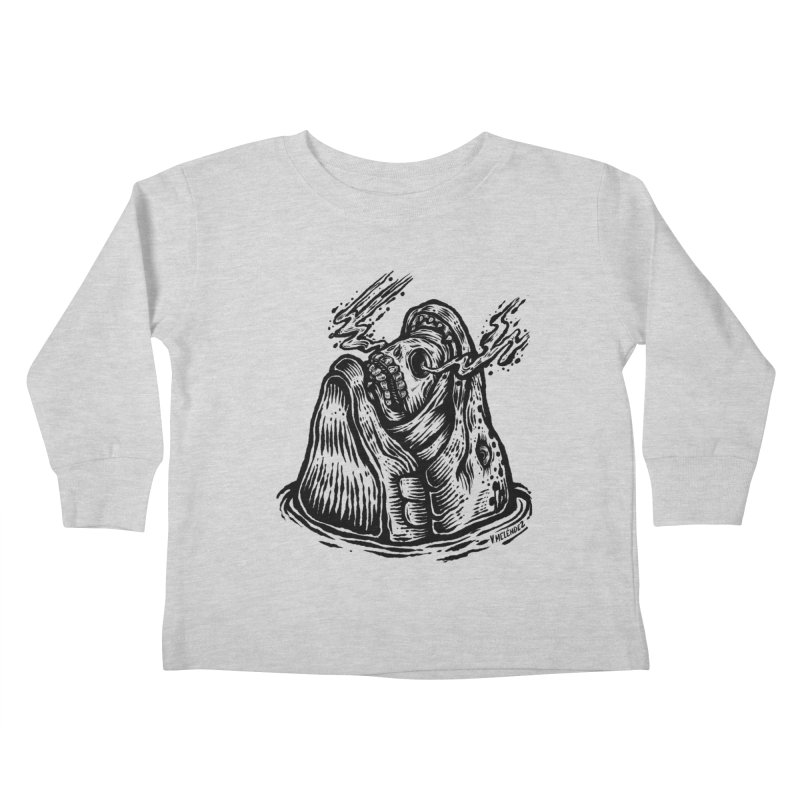 Fish Head Kids Toddler Longsleeve T-Shirt by Victor Melendez