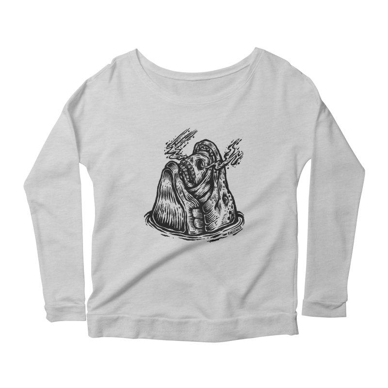 Fish Head Women's Scoop Neck Longsleeve T-Shirt by Victor Melendez
