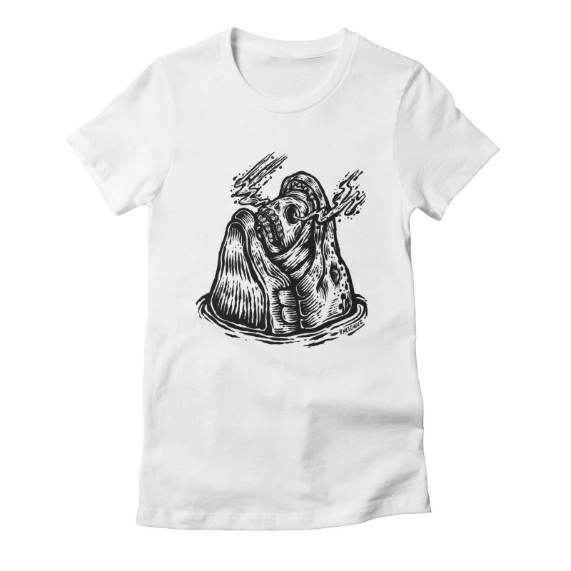 Fish Head Women's Fitted T-Shirt by Victor Melendez