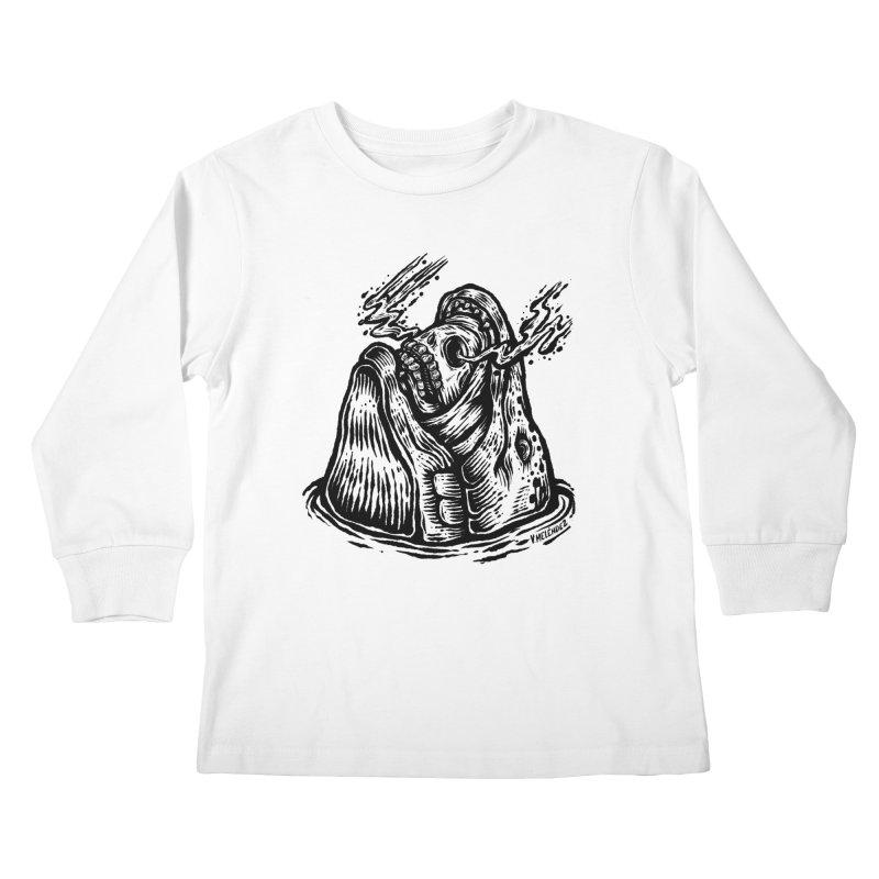 Fish Head Kids Longsleeve T-Shirt by Victor Melendez