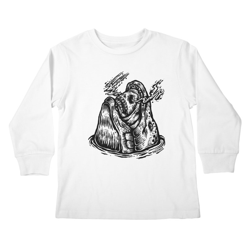 Fish Head Kids Longsleeve T-Shirt by Victor Melendez