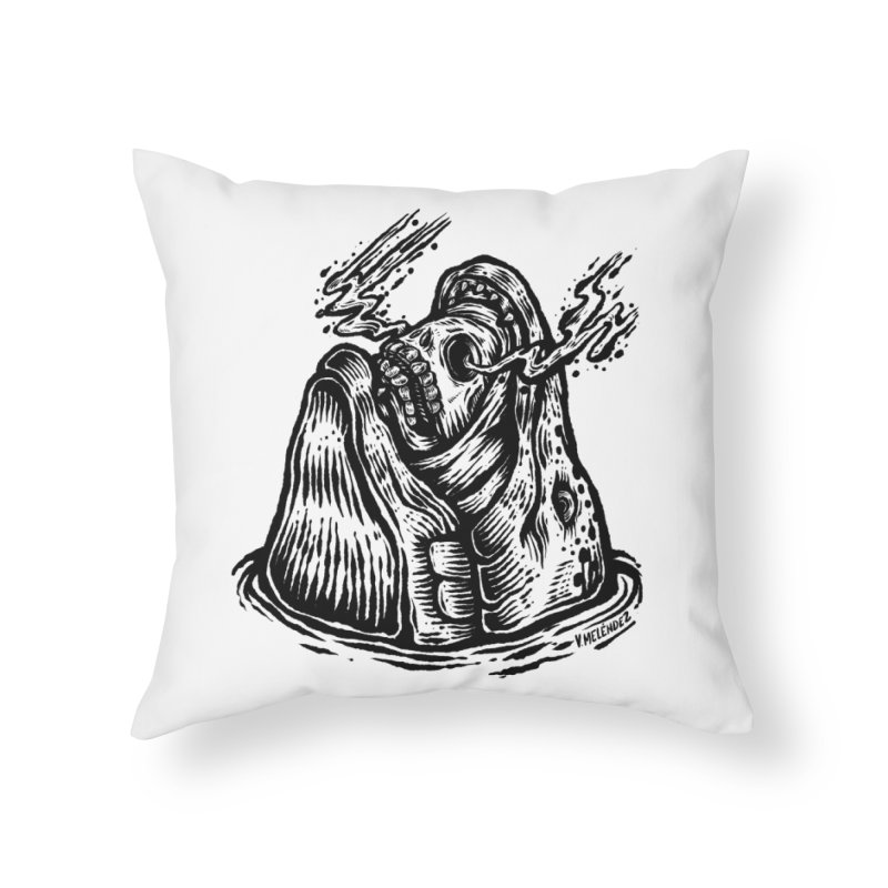 Fish Head Home Throw Pillow by Victor Melendez