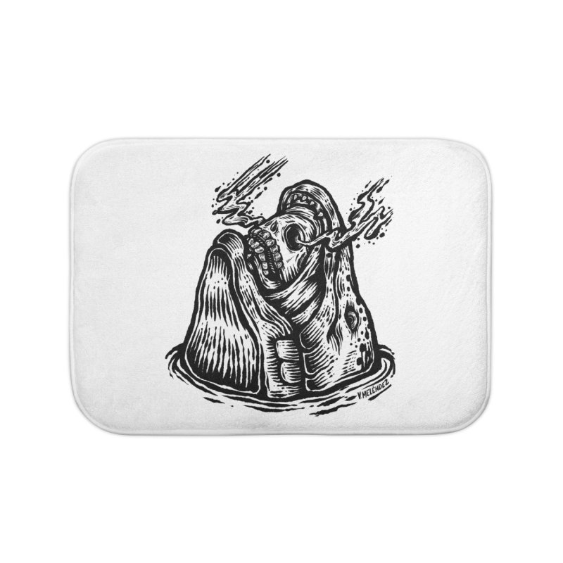 Fish Head Home Bath Mat by Victor Melendez