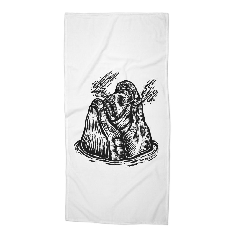 Fish Head Accessories Beach Towel by Victor Melendez
