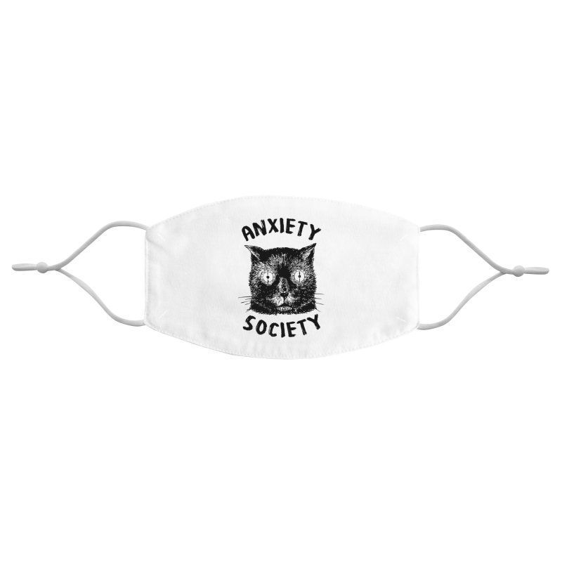 Anxiety Society Accessories Face Mask by Victory Screech Labs