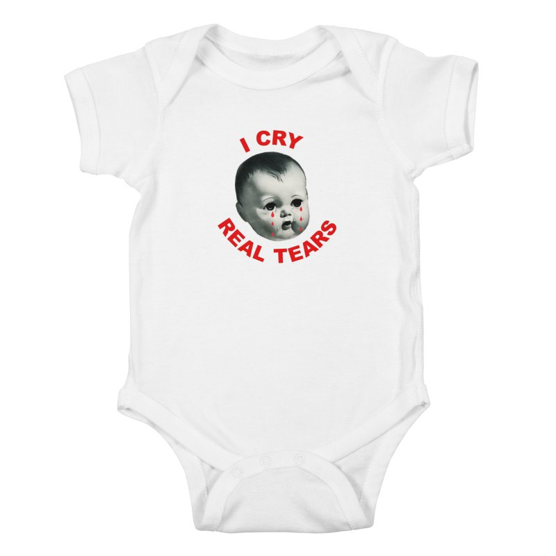 I Cry Real Tears Kids Baby Bodysuit by Victory Screech Labs