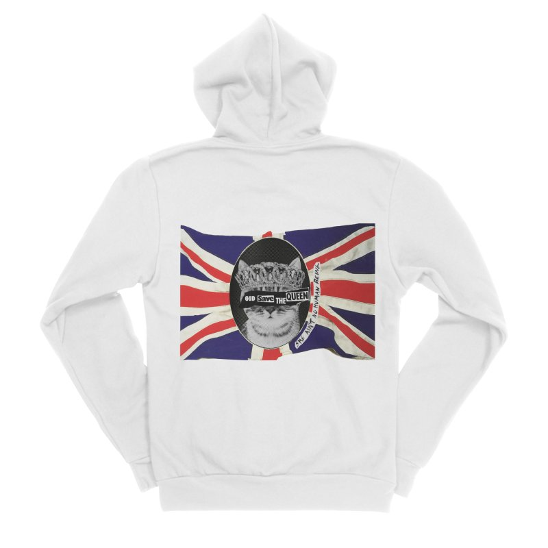 God Save the Kween Men's Zip-Up Hoody by Victory Screech Labs