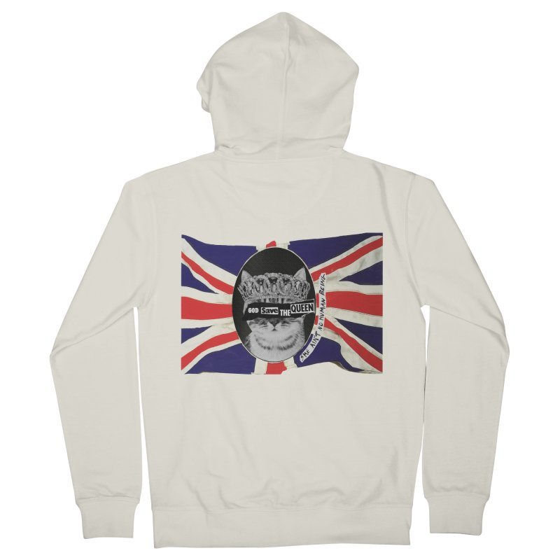 God Save the Kween Women's Zip-Up Hoody by Victory Screech Labs