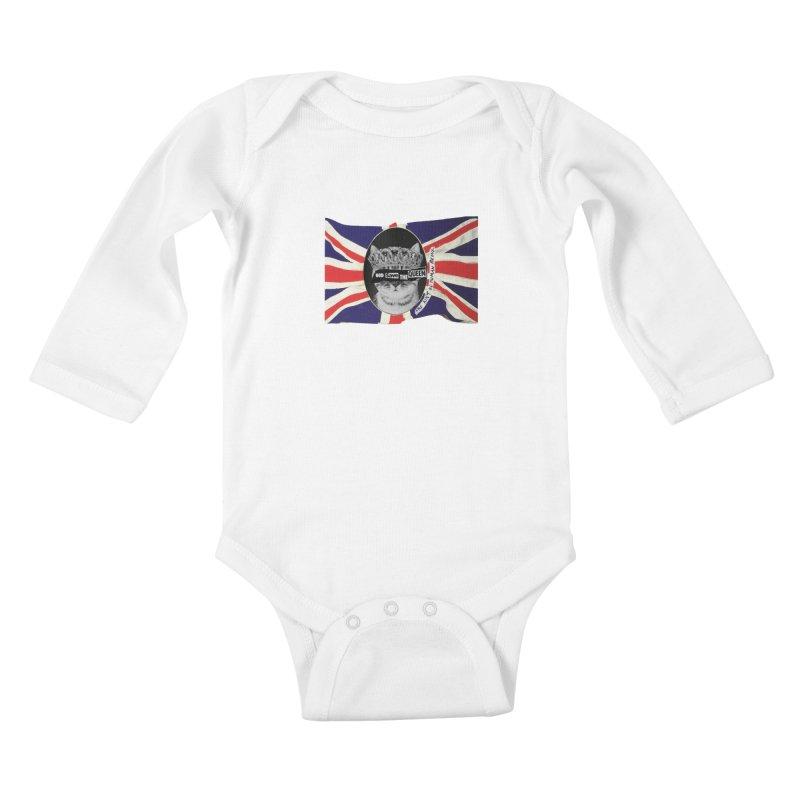 God Save the Kween Kids Baby Longsleeve Bodysuit by Victory Screech Labs