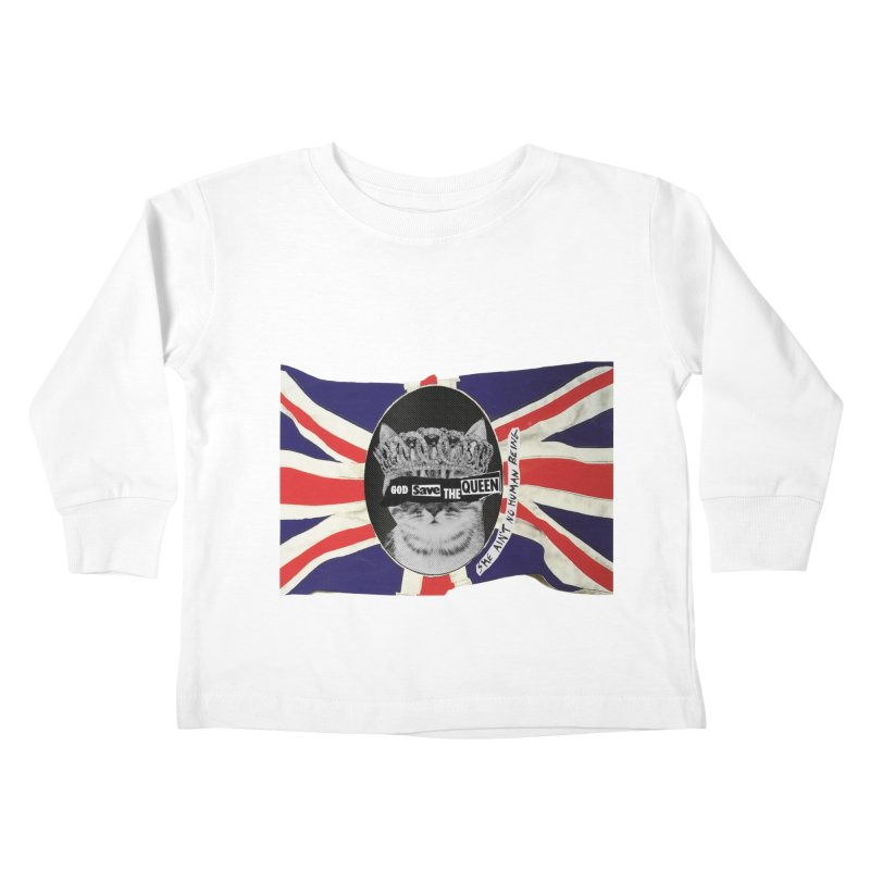 God Save the Kween Kids Toddler Longsleeve T-Shirt by Victory Screech Labs