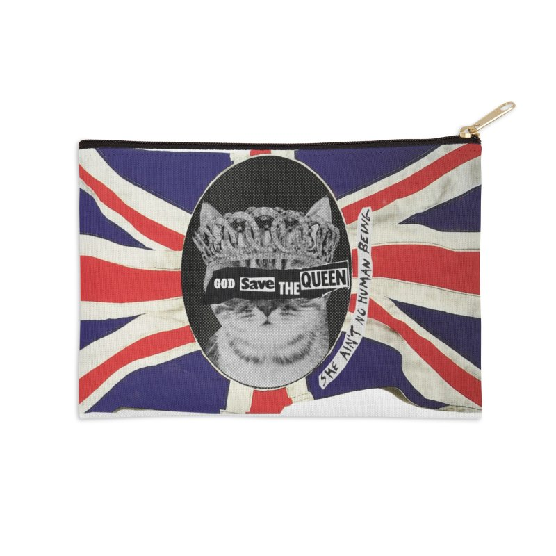 God Save the Kween Accessories Zip Pouch by Victory Screech Labs
