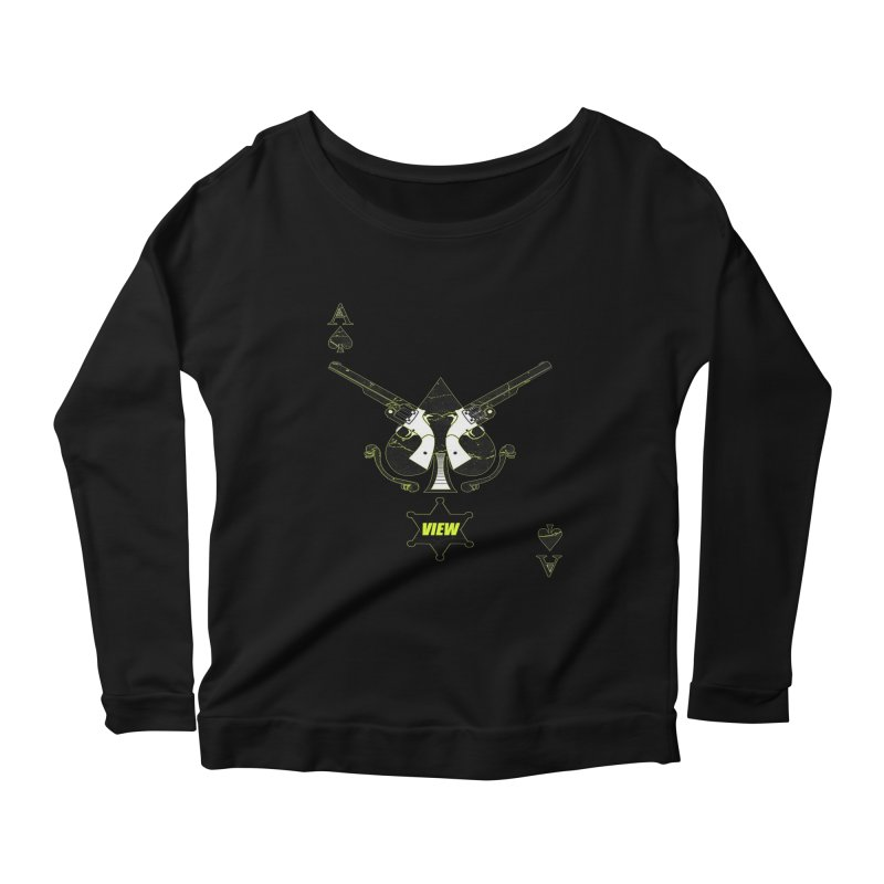 View Ace Women's Longsleeve Scoopneck  by View From Brooklyn T-Shirt Shop