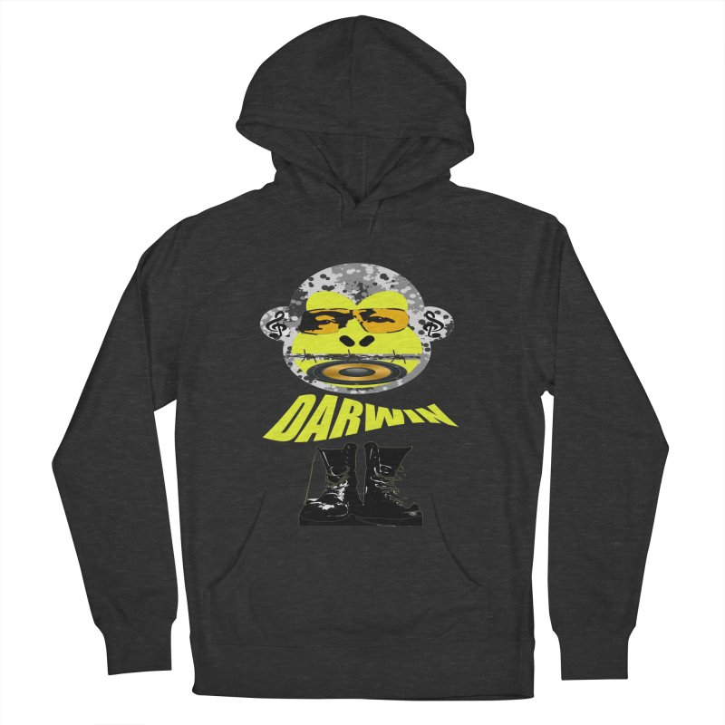Darwin Monkey Women's French Terry Pullover Hoody by View From Brooklyn T-Shirt Shop