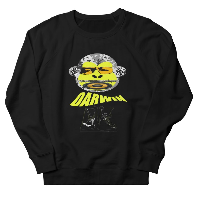 Darwin Monkey Women's French Terry Sweatshirt by View From Brooklyn T-Shirt Shop
