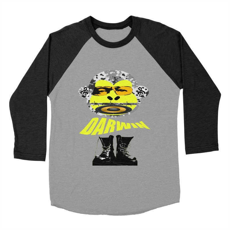 Darwin Monkey Women's Baseball Triblend Longsleeve T-Shirt by View From Brooklyn T-Shirt Shop